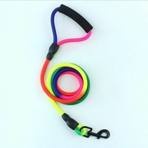 Dogs Leash Nylon Durable Rainbow Color Strap Belt Pet Walking Training R... - $6.92