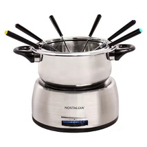 1.5 qt. Stainless Steel Fondue Set With Colored Fork Handles - $37.99