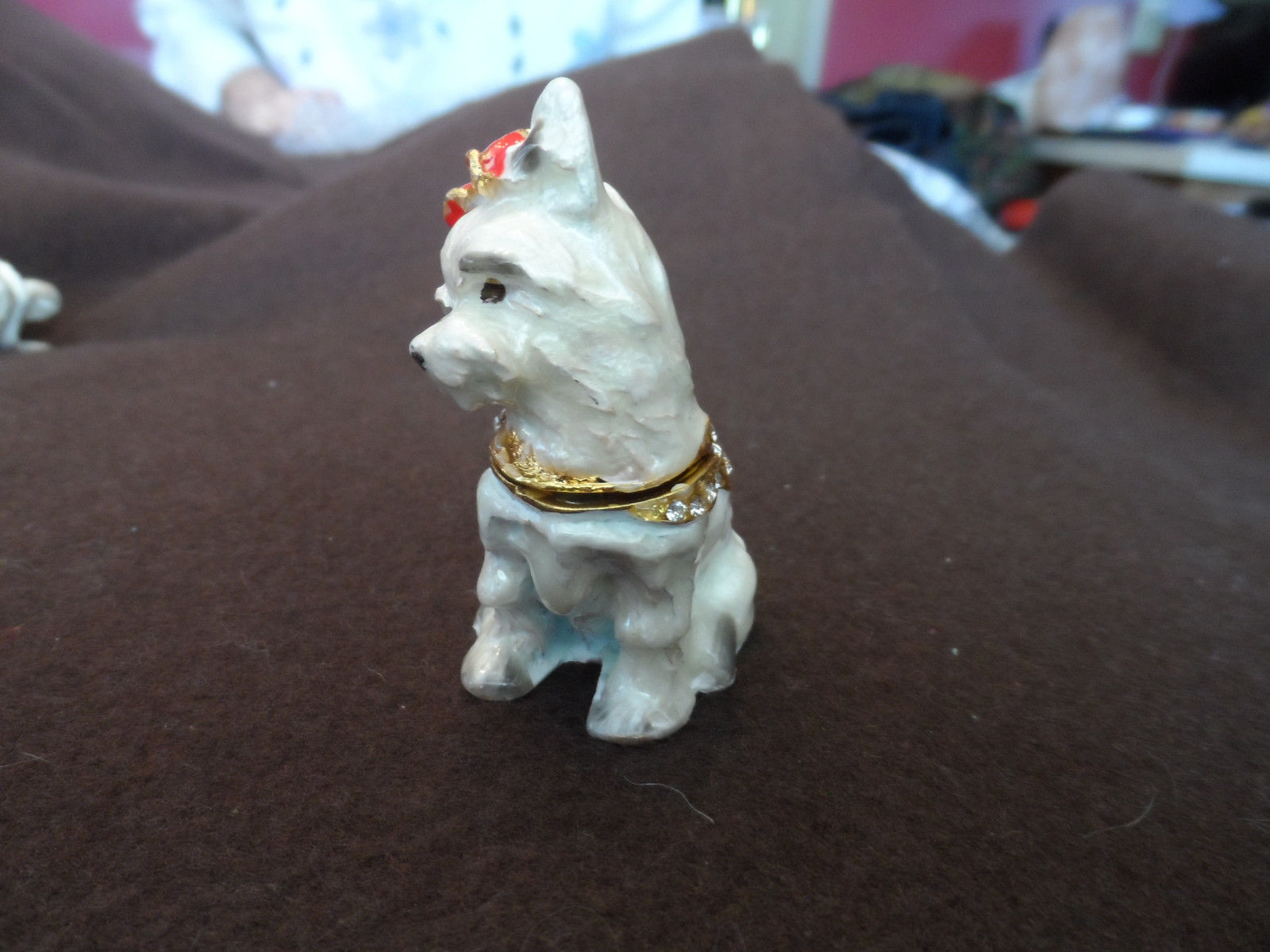 New metal hinged, jeweled trinket box - choice image 10