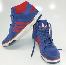 Adidas High Top Basketball Shoe Mens 13 Red Blue White - $53.25