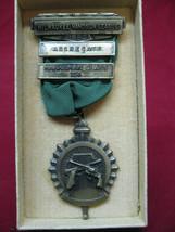 Antique 1950 1st Class Marksman Class Handgun League Award Metal Milwauk... - $29.69