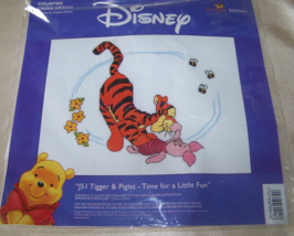 Disney Tigger & Piglet time for a little fun  Designer Stitches Cross St... - $8.62