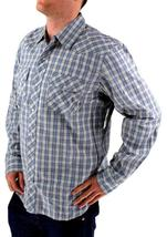 LEVI'S MEN'S LONG SLEEVE BUTTON UP CASUAL DRESS SHIRT GRAY 3LMLW120CC size XL image 4
