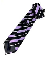 New BANANA REPUBLIC SILK TIE Purple/Gray Stripe Men's Neck Tie Made in T... - $12.95