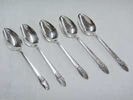 Rogers Bros First Love Silverplate Lot of 5 Tea... - $19.79