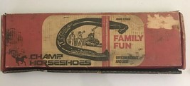Vintage Champ Horseshoes 4 Shoes 2 Stakes Family Fun With Box - $49.50