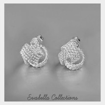 Knotty And Nice - The Knotted Rope Earrings in Silver - $21.09