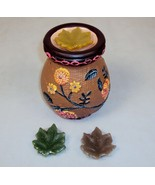 Aroma Therapy,Melting Pot, Tart Burner Diffuser, Ceramic Floral,3 Sented... - $12.69
