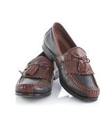 Johnston Murphy Black Brown Moc Toe Kiltie Tassel Loafers Dress Shoes Me... - $44.40