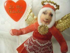 Vintage Inspired Spun Cotton Valentine Angel no. 140A image 3