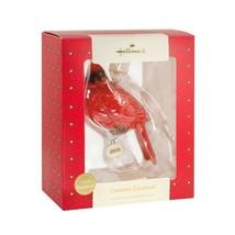 Hallmark Premium Christmas Ornament Ceramic Cardinal Bird 2018 - $15.08