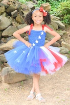 Stars and Stripes Patriotic Tutu Dress, July 4th Tutu, American Tutu, Flag Tutu - $40.00+