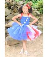 Stars and Stripes Patriotic Tutu Dress, July 4th Tutu, American Tutu, Fl... - $40.00+