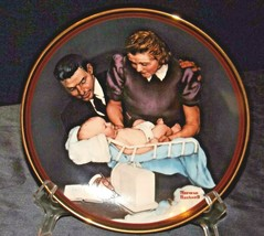 """1989 """"Growing strong"""" by Norman Rockwell Commemorative Plate AA20-CP2290 Vintage"""