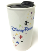 Starbucks 2015 Disney Parks Double Wall Ceramic Travel Mug New Never Used