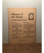 Albums Of Art Songs For School, Studio And Concert PB 1930 - $11.87