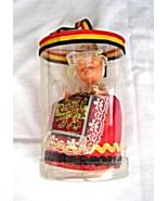 Vintage Belgium Souvenir Costume Doll  Mini in Case Sleepy Eye - $24.99
