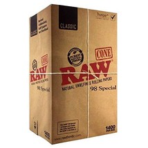 """RAW Classic 98 Special Pre Rolled Cones""""1400"""" with Leaf Lock Gear Smell Proof Po"""