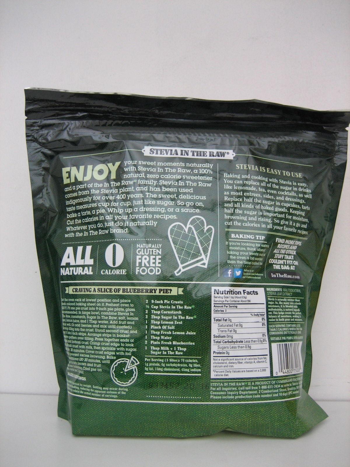 Stevia In The Raw Nutrition Label - Juleteagyd
