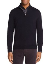 The Men's Store Bloomingdales 1/4 Zip Merino Wool Sweater 2XL Navy Blue A30-04 - $38.68