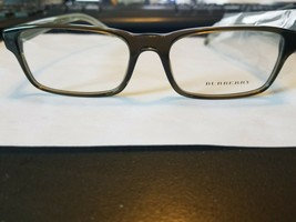 New Burberry B 2223 3010 Green Authentic Eyeglasses Rx 54-17-145 Orig Case - $88.11