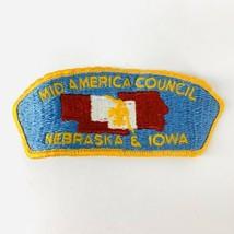 Vintage BSA Boy Scouts Of America Patch Mid America Council Nebraska Iowa - $19.00