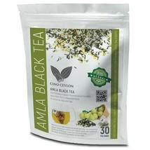 100% Natural Amla / Nelli Fruit Tea Bags With Ceylon Premium Black Tea (Fbopf) - $11.63