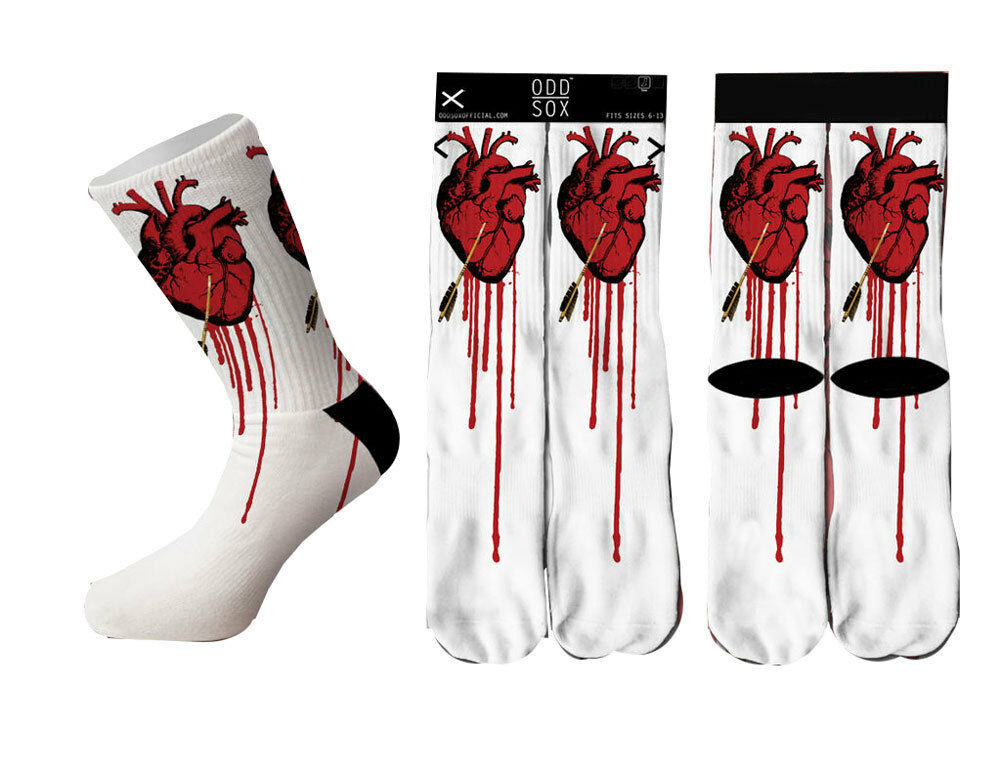 Odd Sox Love Struck Socks Bleeding Heart OSWIN16LOVE
