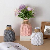 New Origami Plastic Vases Home Office Decoration Imitation  Pot Flower V... - $7.91