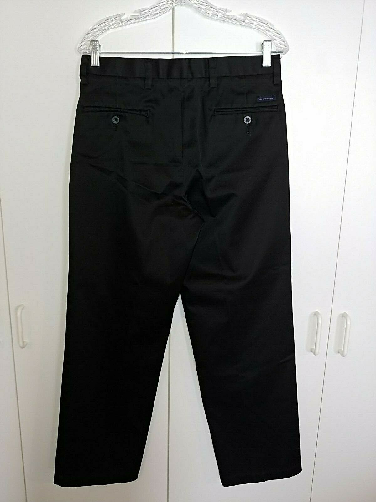 DOCKERS 03 CLASSIC FIT BLACK COTTON MENS PLEATED CASUAL PANTS-31X30-BARELY WORN image 2