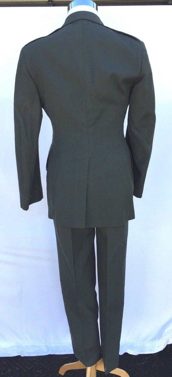 MENS US ARMY GREEN Suit Wool Serge DRESS JACKET 38R Pants 32 x29 SERVICE UNIFORM