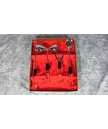 Vintage and Unused Swank 4 Piece Bar Set with Lucite Fishing Flies Handles - $23.36