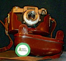 Zeiss Ikon Contaflex Super Camera with hard leather Case AA-192015 Vintage image 3