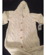 NEW! RARE First impressions Baby Girl 6-9 Mo Acrylic Knit Ivory Jumpsuit... - $28.01