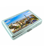 Barcelona Spain D1 Silver Metal Cigarette Case RFID Protection Wallet - $11.83