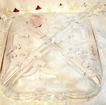 Vintage Mikasa Bella rose Glass Serving Dish image 6
