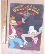 Futurama Season 4 DVD TV Series 4 Disc Box Set TESTED Sci-Fi Animated Co... - $7.29