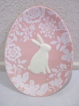 Magenta Easter Bunny Rabbit Pink Appetizer Plate - $11.99