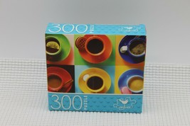 NEW 300 Piece Jigsaw Puzzle Cardinal Sealed 14 x 11, Colorful Coffee Cups - $4.45