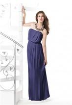 Dessy 2829......Full length, Strapless Chiffon Dress.....Amethyst.....Sz 14 - $69.29