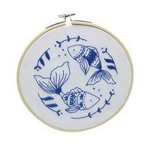 Full Range of Embroidery Starter Kit DIY Handmade Cross Stitch Kit, Pisc... - $15.41