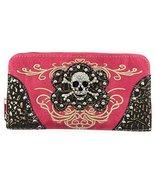 Texas West Women's Embroidered Metal Skull Purse Handbag and Wallet set ... - $26.72