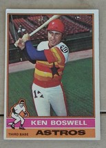 Ken Boswell, Astros, 1976  #379 Topps Card, VG COND - $0.99