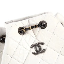 BNIB 2019 Chanel White Black Gabrielle Quilted Leather Bucket Bag RECEIPT  image 6