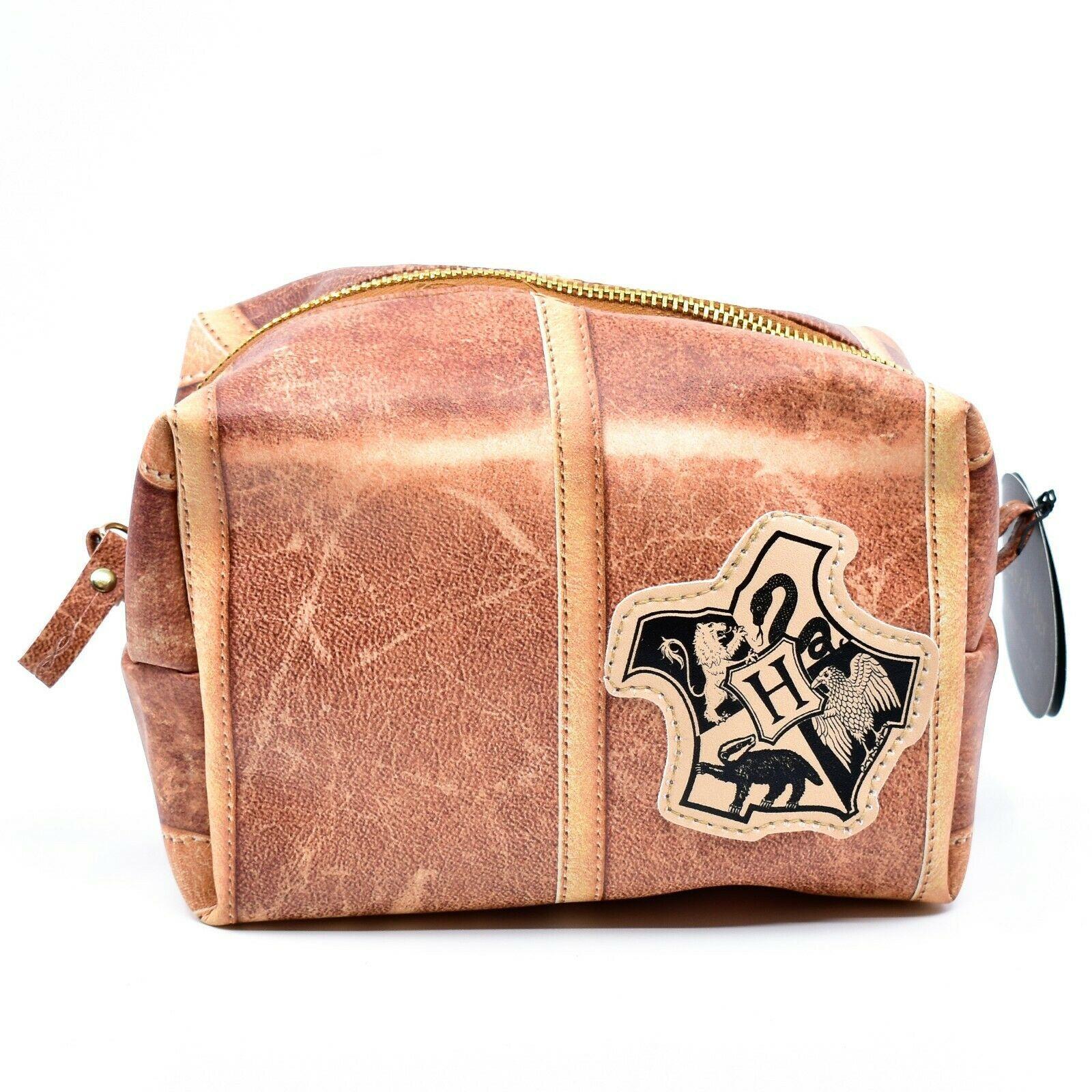Harry Potter Hogwarts Theme Zippered Toiletry Makeup Accessory Bag
