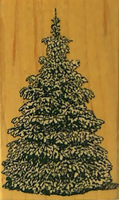 Penny Black-Evergreen-Rubber Stamp-#146E