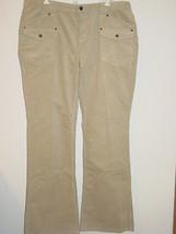 Michael Kors tan beige khaki cords corduroy pants MK logo back pocket-14 - $30.81