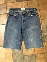 Men's American Eagle Cutoff Jean Shorts Sz 30 Inseam 12 Distressed M30 - $19.79