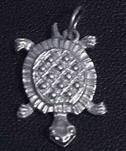 LOOK Silver .925 Baby Turtle pendant Charm Celtic Jewelry - $13.65