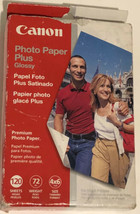 Canon 4x6 Photo Paper Plus Glossy 120 Sheets for inkjet Open Box - $5.93